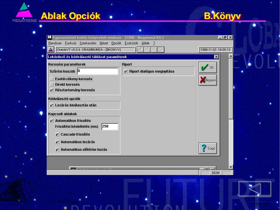 22. IS2PRI2 02/96 Ablak Opciók B.Könyv