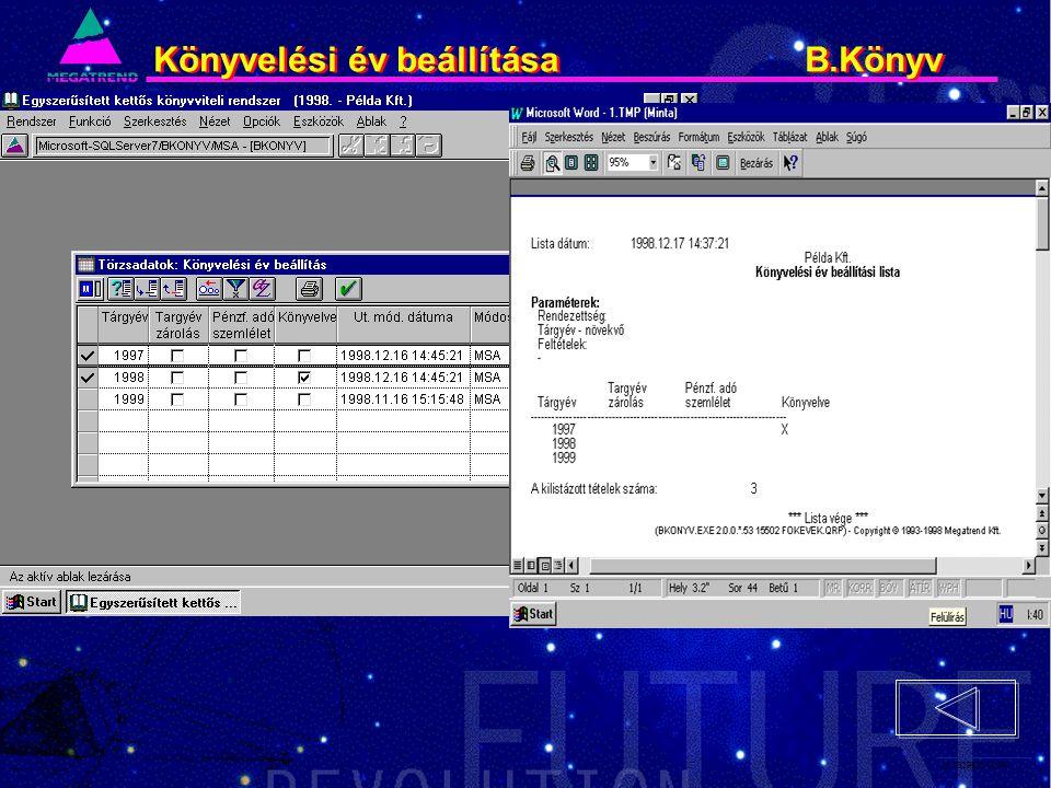 28. IS2PRI2 02/96 Könyvelési év beállítása B.Könyv
