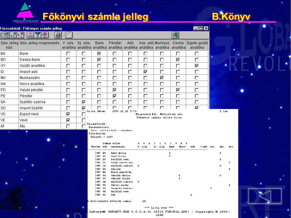 40. IS2PRI2 02/96 Főkönyvi számla jelleg B.Könyv