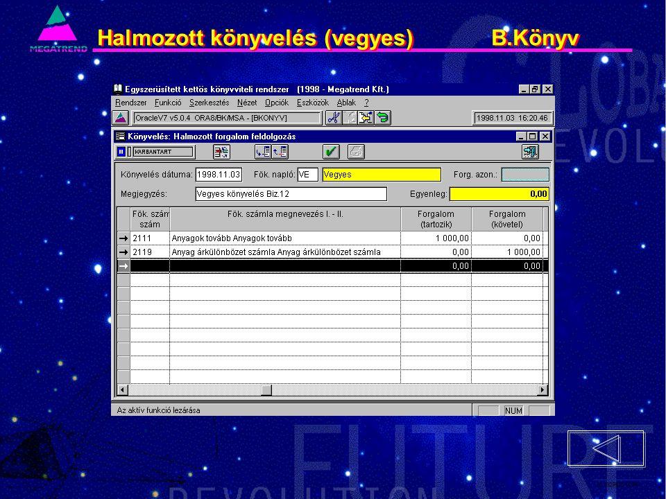 50. IS2PRI2 02/96 Halmozott könyvelés (vegyes) B.Könyv