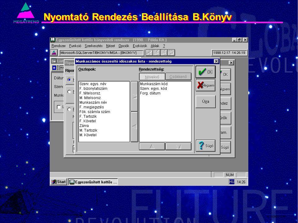 60. IS2PRI2 02/96 Nyomtató Rendezés BeállításaB.Könyv