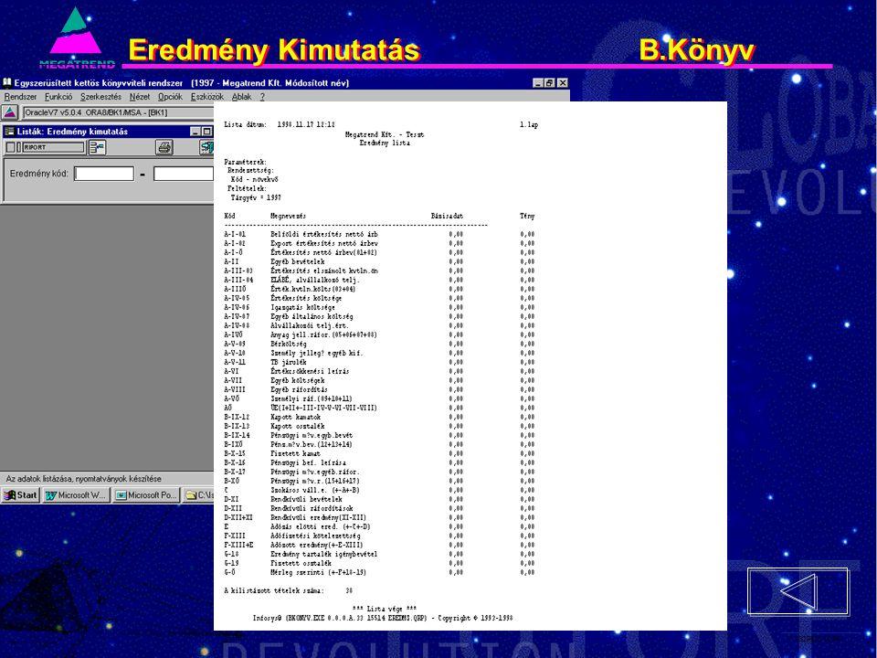 77. IS2PRI2 02/96 Eredmény Kimutatás B.Könyv