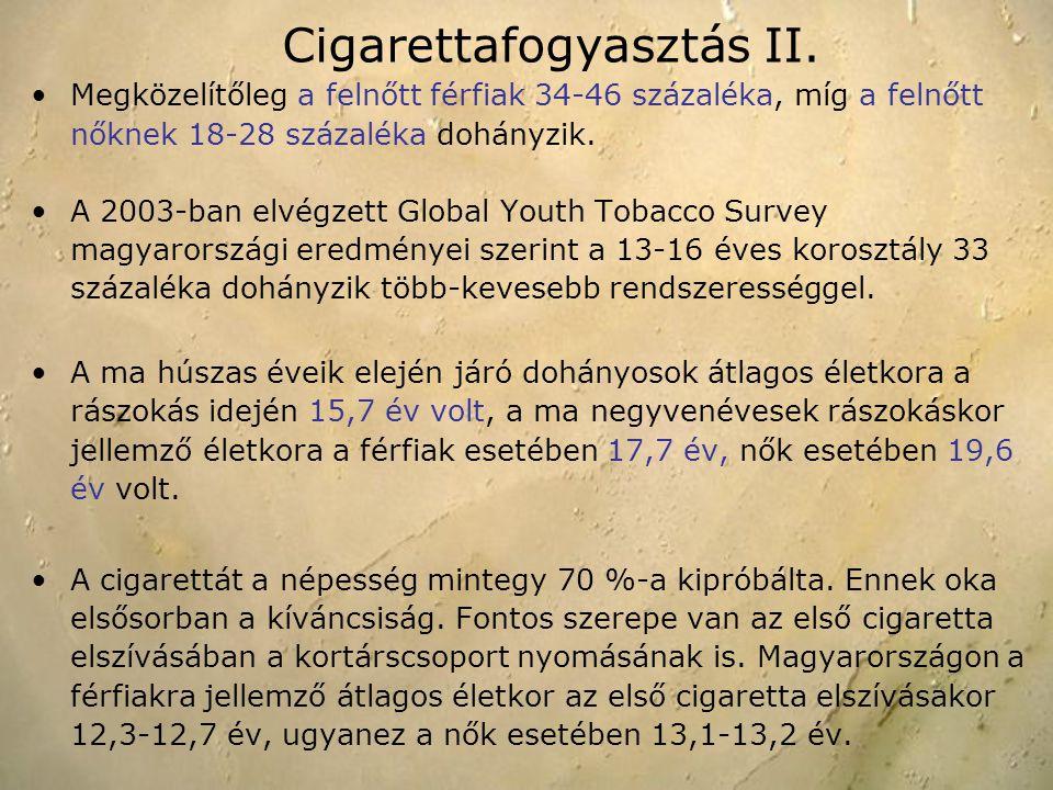 Megközelítőleg a felnőtt férfiak 34-46 százaléka, míg a felnőtt nőknek 18-28 százaléka dohányzik. A 2003-ban elvégzett Global Youth Tobacco Survey mag
