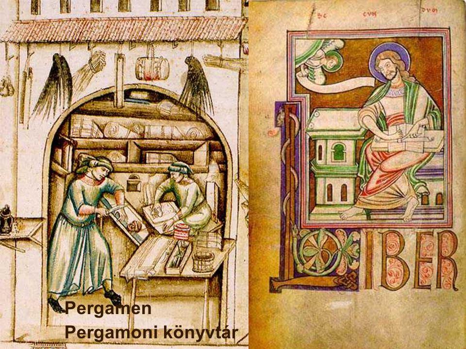 Pergamen Pergamoni könyvtár