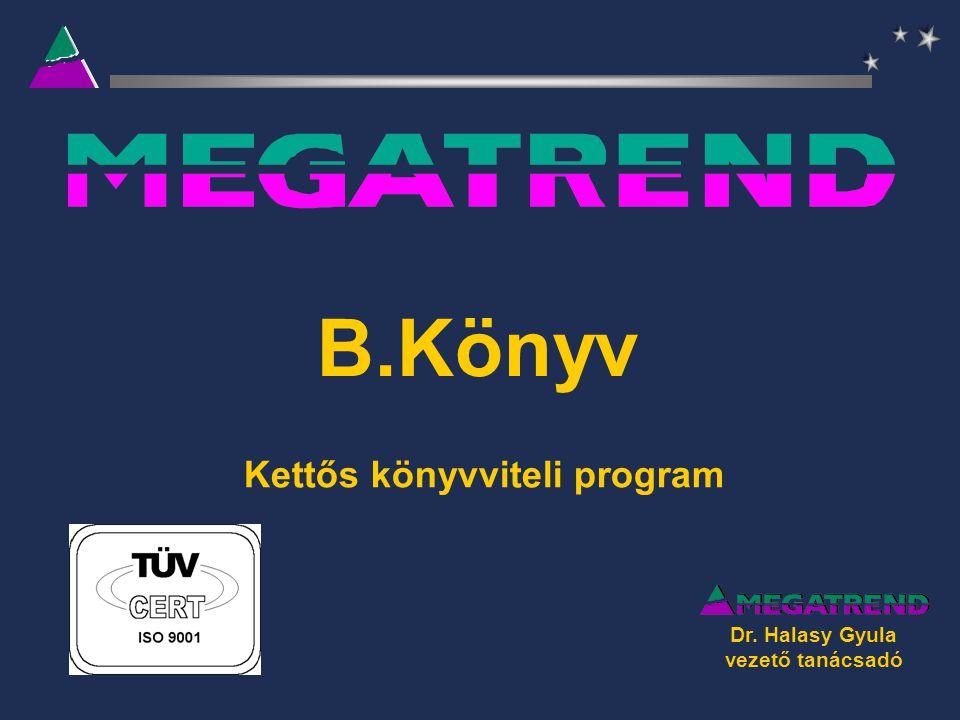 B.Könyv Kettős könyvviteli program Dr. Halasy Gyula vezető tanácsadó