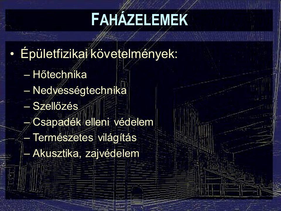 F AHÁZELEMEK Átlátszó szerkezetek: