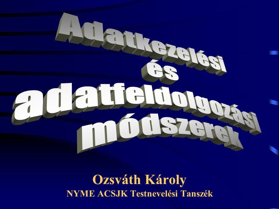 Ozsváth Károly NYME ACSJK Testnevelési Tanszék