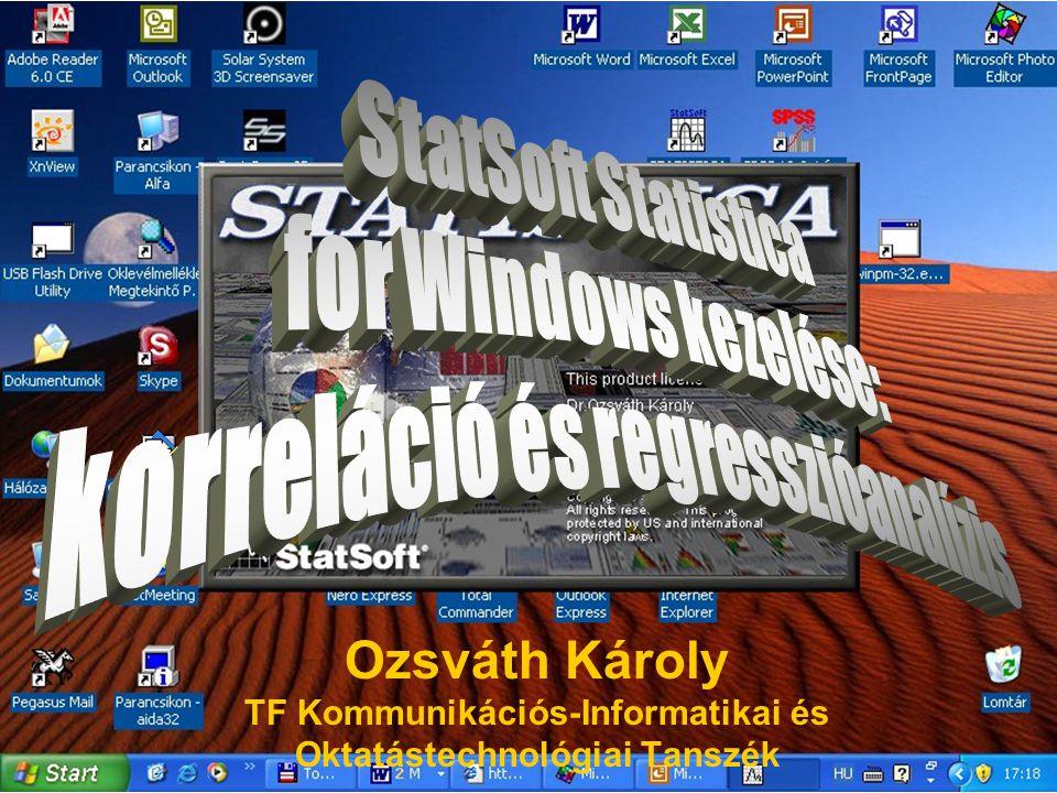 Ozsváth Károly TF Kommunikációs-Informatikai és Oktatástechnológiai Tanszék