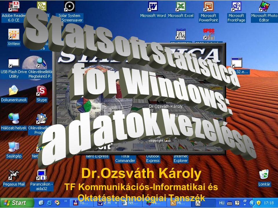 Dr.Ozsváth Károly TF Kommunikációs-Informatikai és Oktatástechnológiai Tanszék