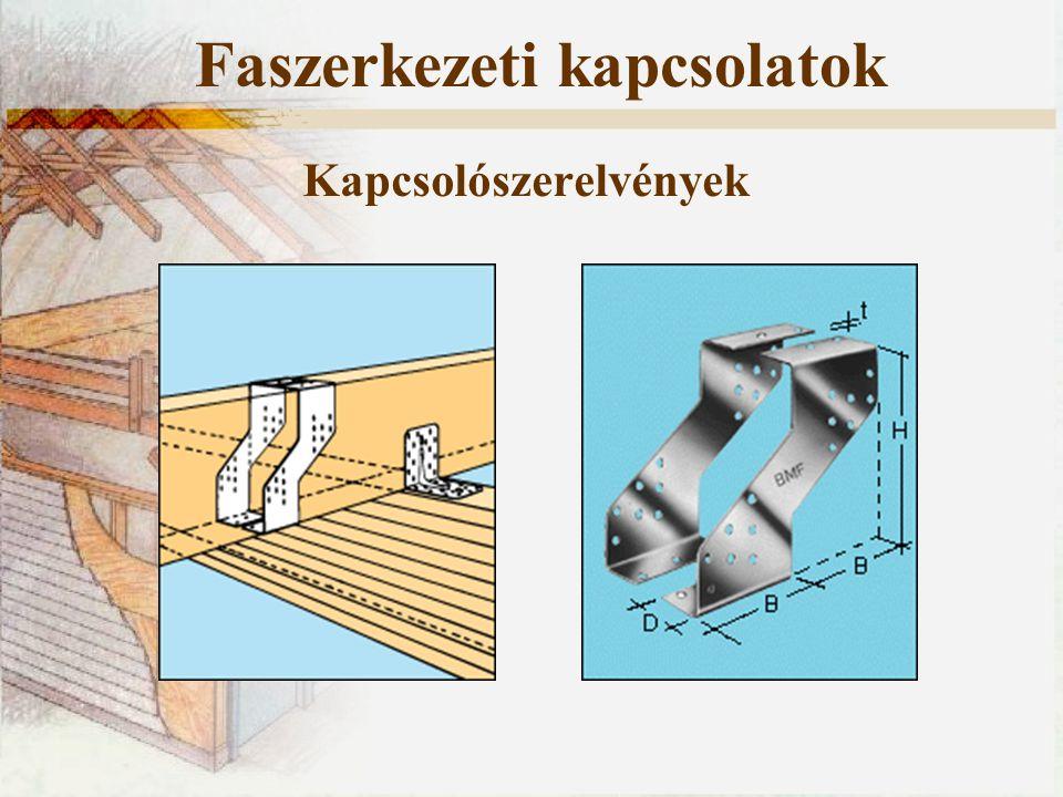 Kapcsolószerelvények Faszerkezeti kapcsolatok Konzolok rögzítése