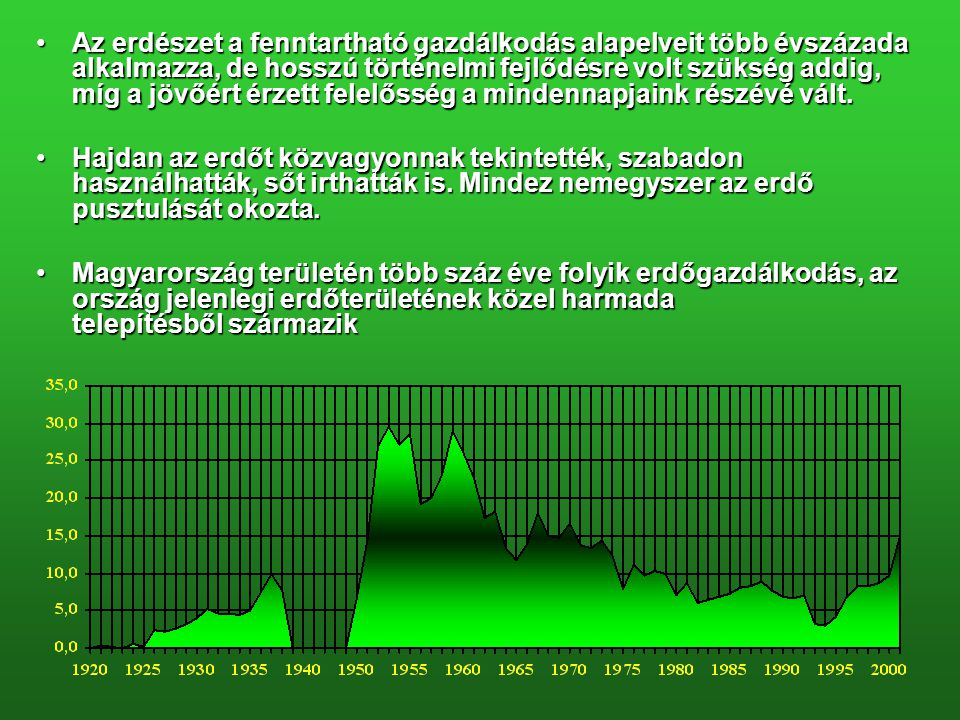 MAGYARORSZÁG ERDŐTERÜLETÉNEK ALAKULÁSA 8961879 1992