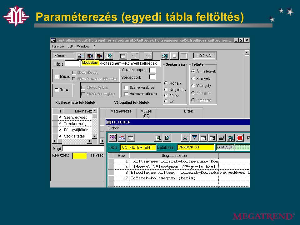 Paraméterezés (egyedi tábla feltöltés)