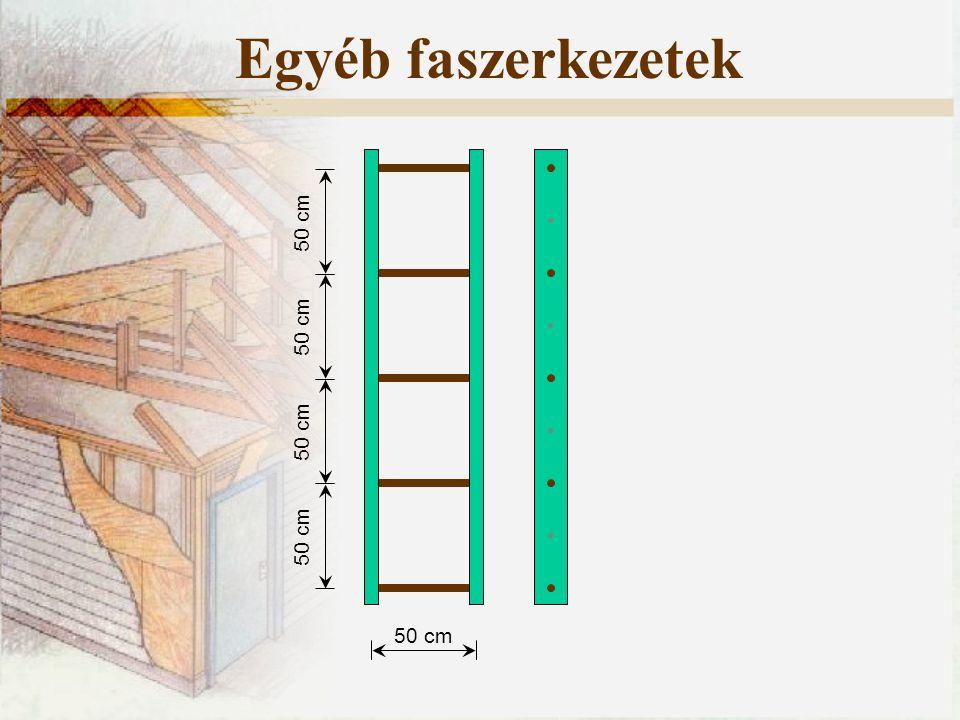 50 cm Egyéb faszerkezetek