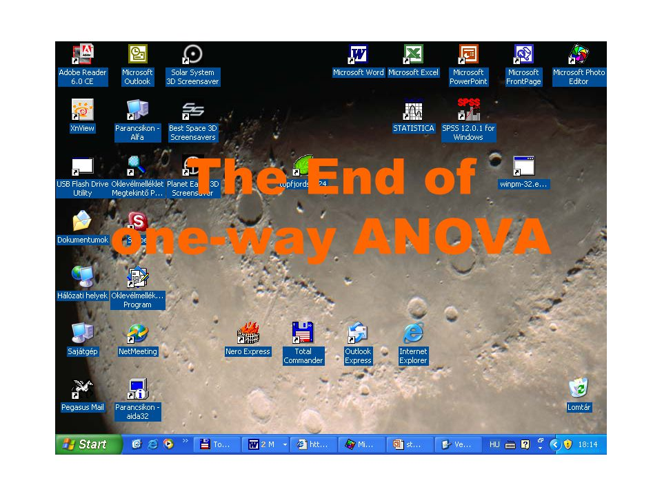 The End of one-way ANOVA