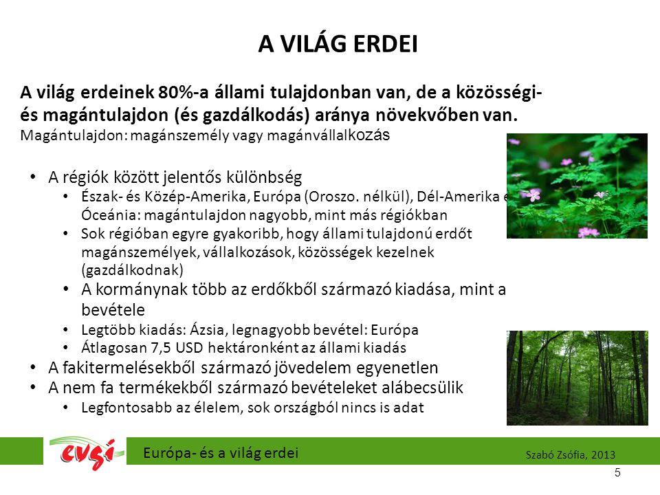 EURÓPA ERDEI Európa erdőterülete Oroszországgal együtt.