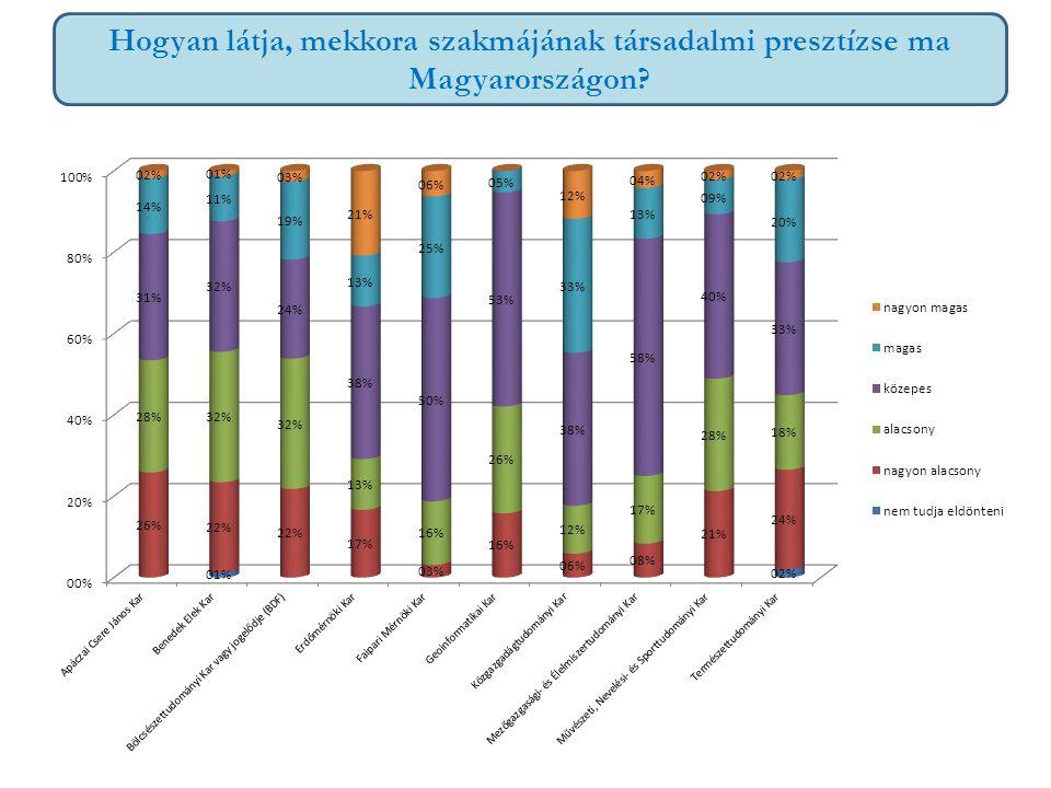 Hogyan látja, mekkora szakmájának társadalmi presztízse ma Magyarországon