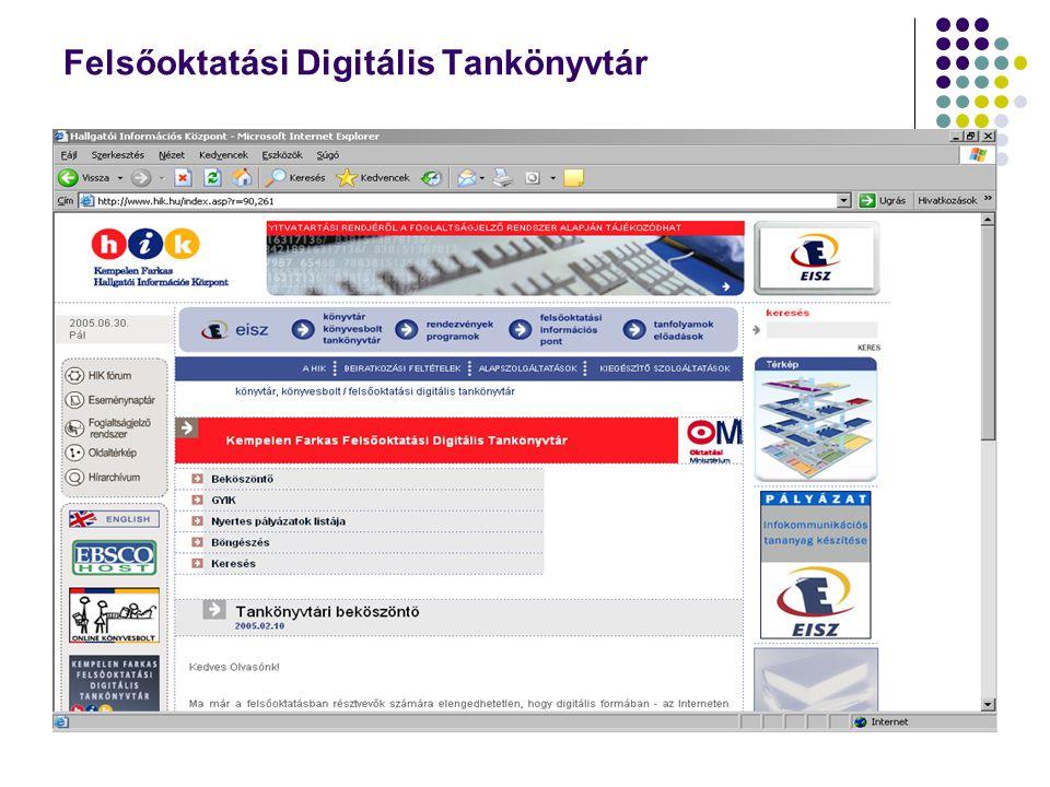 Felsőoktatási Digitális Tankönyvtár