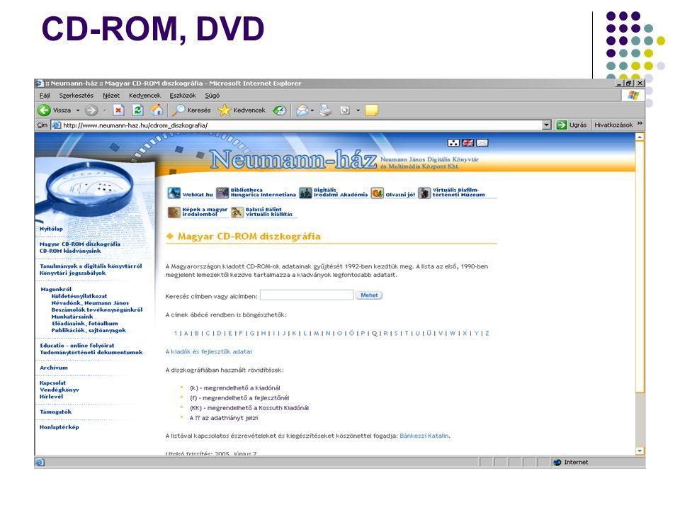 CD-ROM, DVD