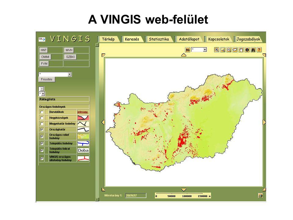 A VINGIS web-felület