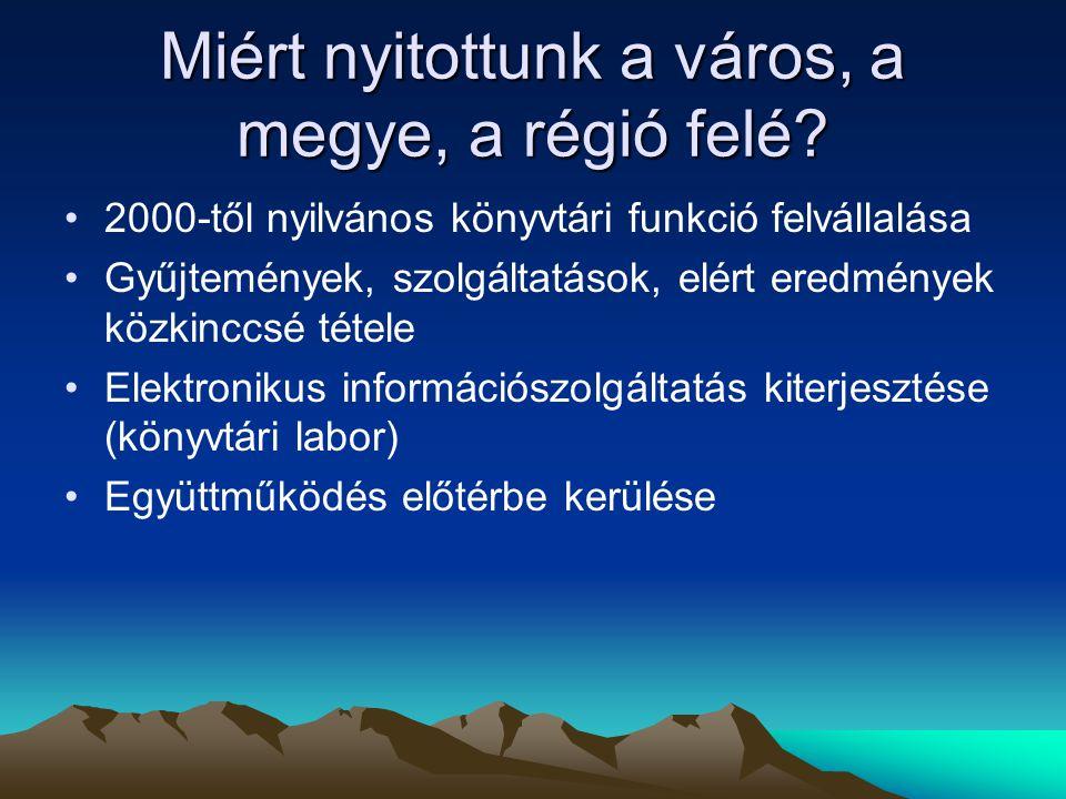 Együttműködés II.Magyarországi Aleph csoport –Továbbképzések –Rekordátvétel Projektek –1999-2000.