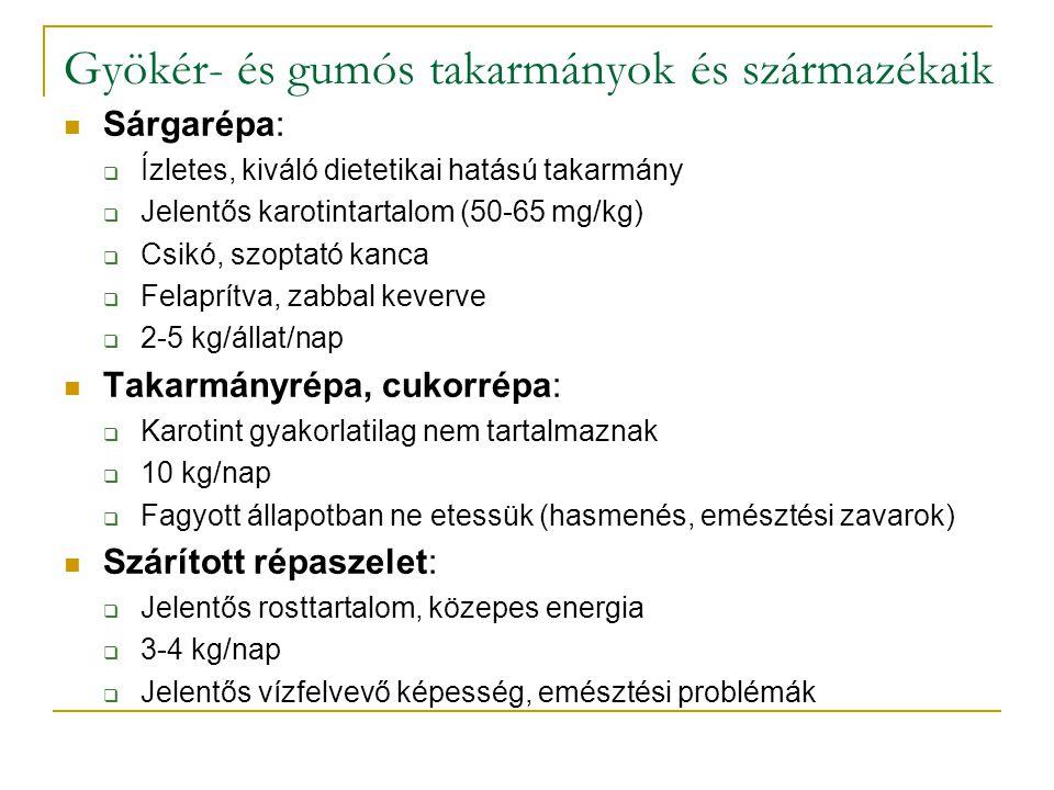 Abraktakarmányok előkészítése I.Az előkészítés hatására az emészthetőség javul (pl.