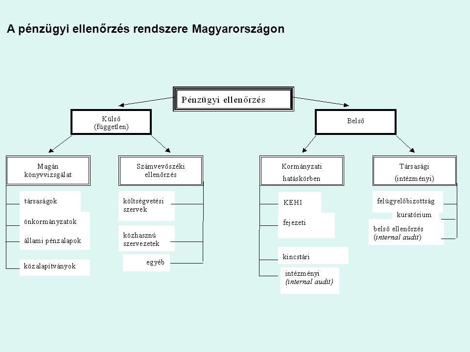 A pénzügyi ellenőrzés rendszere Magyarországon
