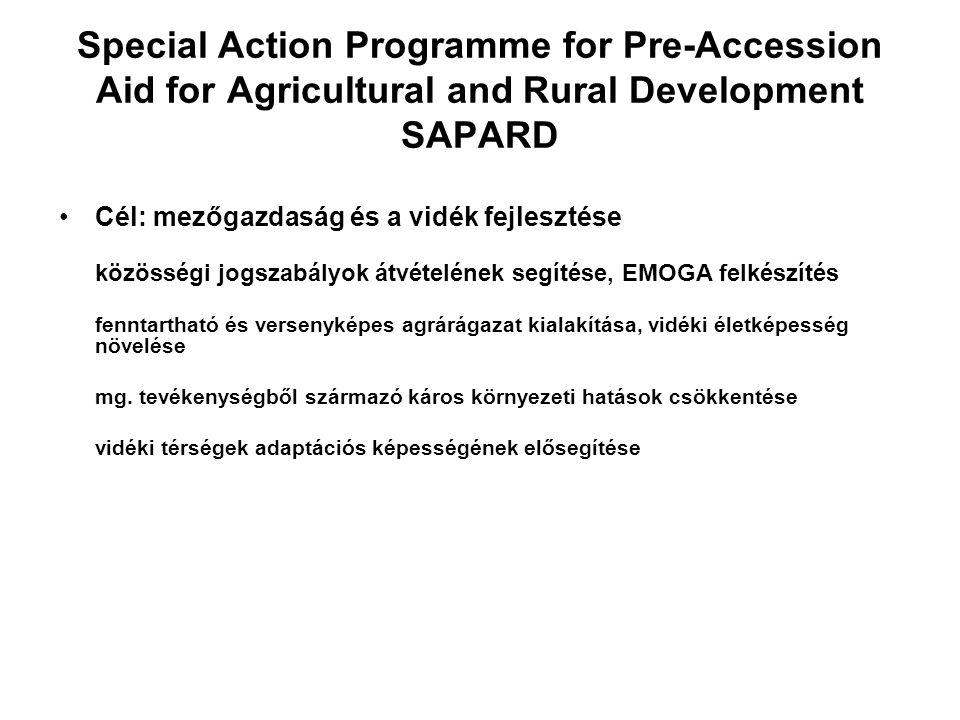 SAPARD Források elosztásának kritériumai: - mg.