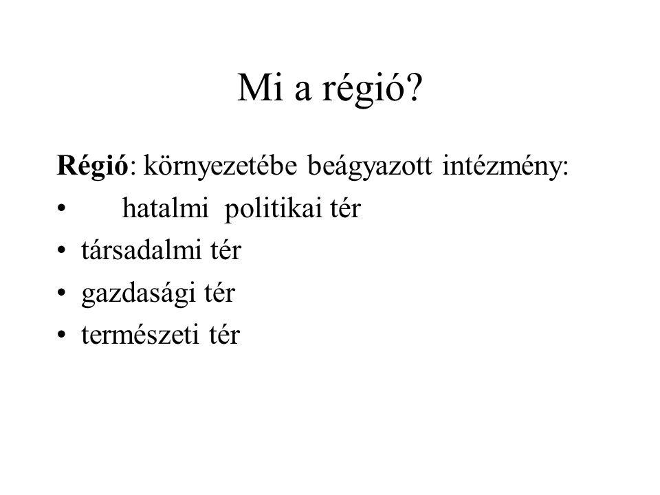 Mi a régió.