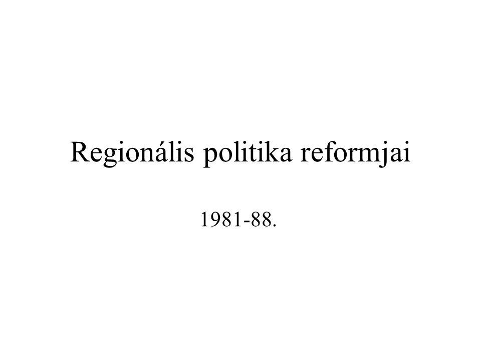 Görögország csatlakozása (1981) 1.Közösségi szinten nőtt a területi egyenlőtlenség 2.Görögország GDP-je a Közösség átlagának fele 3.Felvétele: geopolitikai érdek