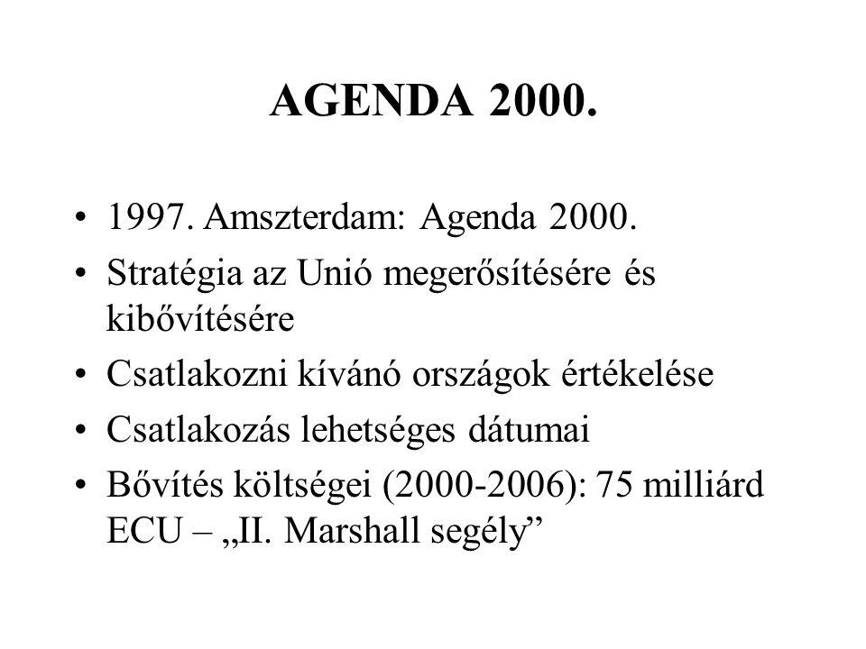 AGENDA 2000. 1997. Amszterdam: Agenda 2000.