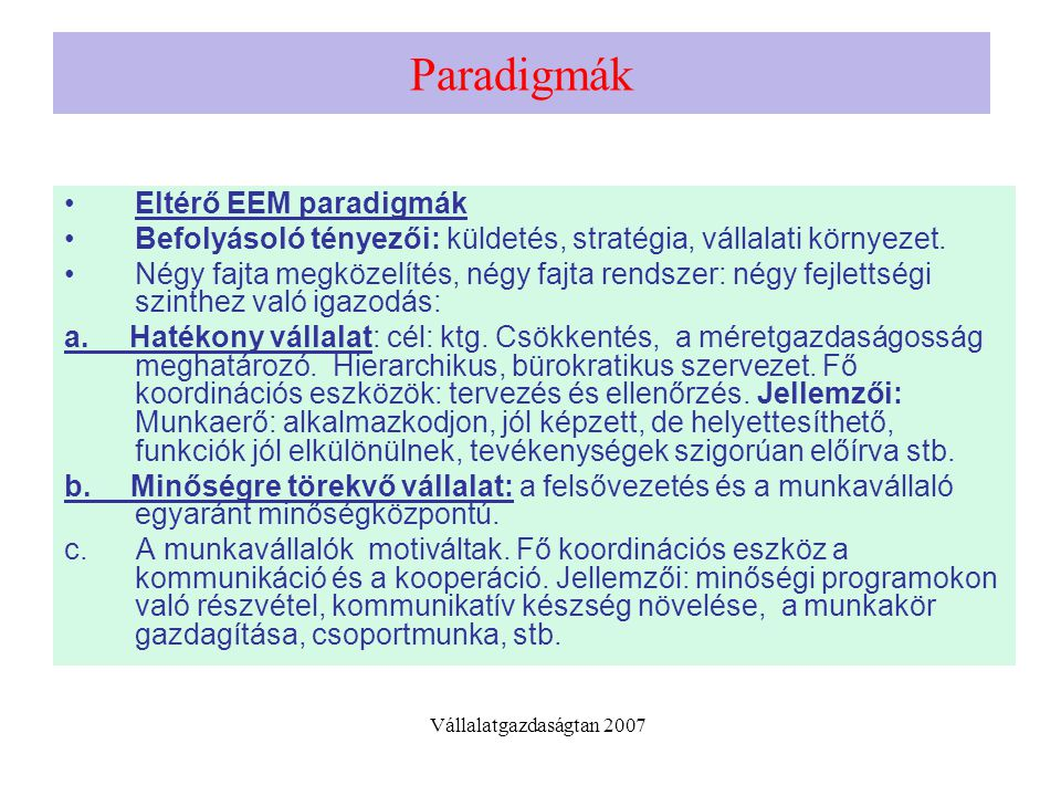 Paradigma II d.