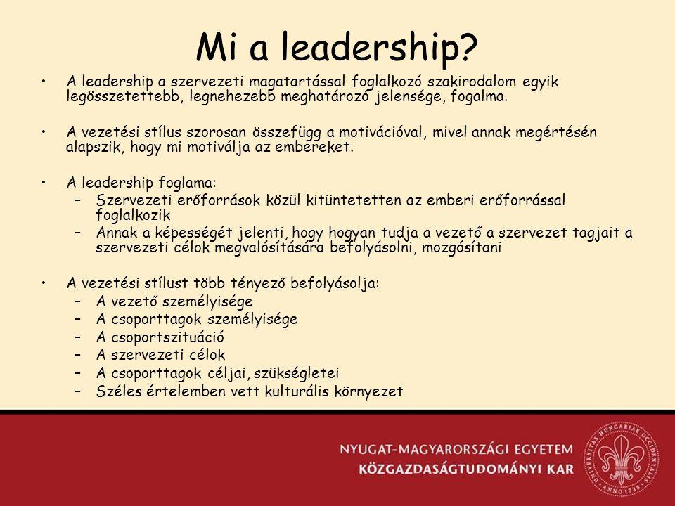 Mi a leadership.