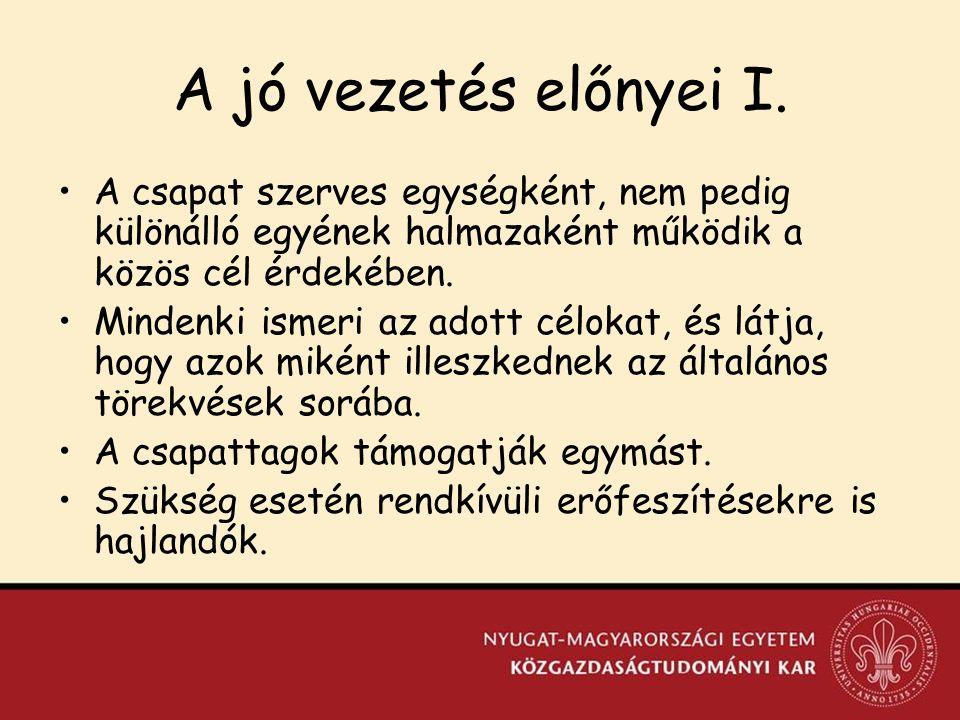 Szervezeti magatartástudomány III.