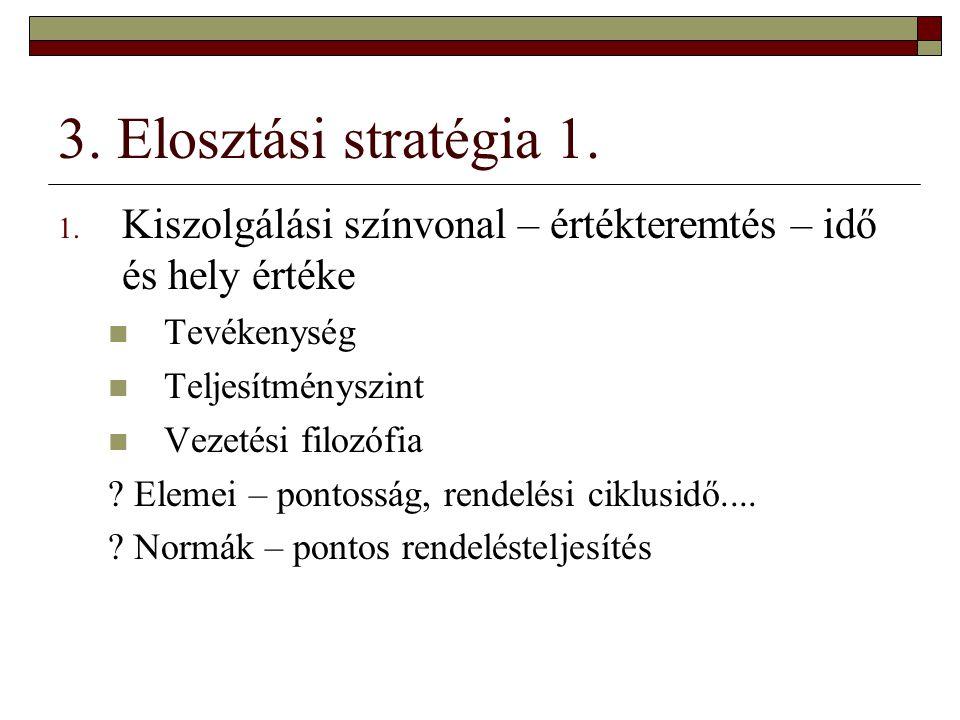 3.Elosztási stratégia 2. 2.