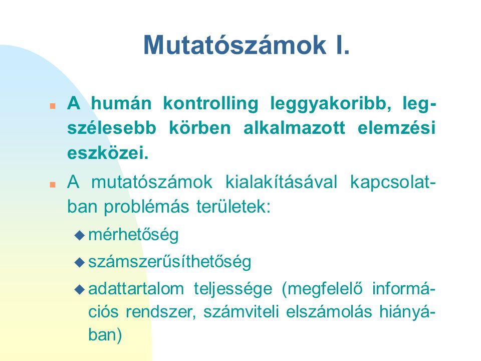 Mutatószámok II.