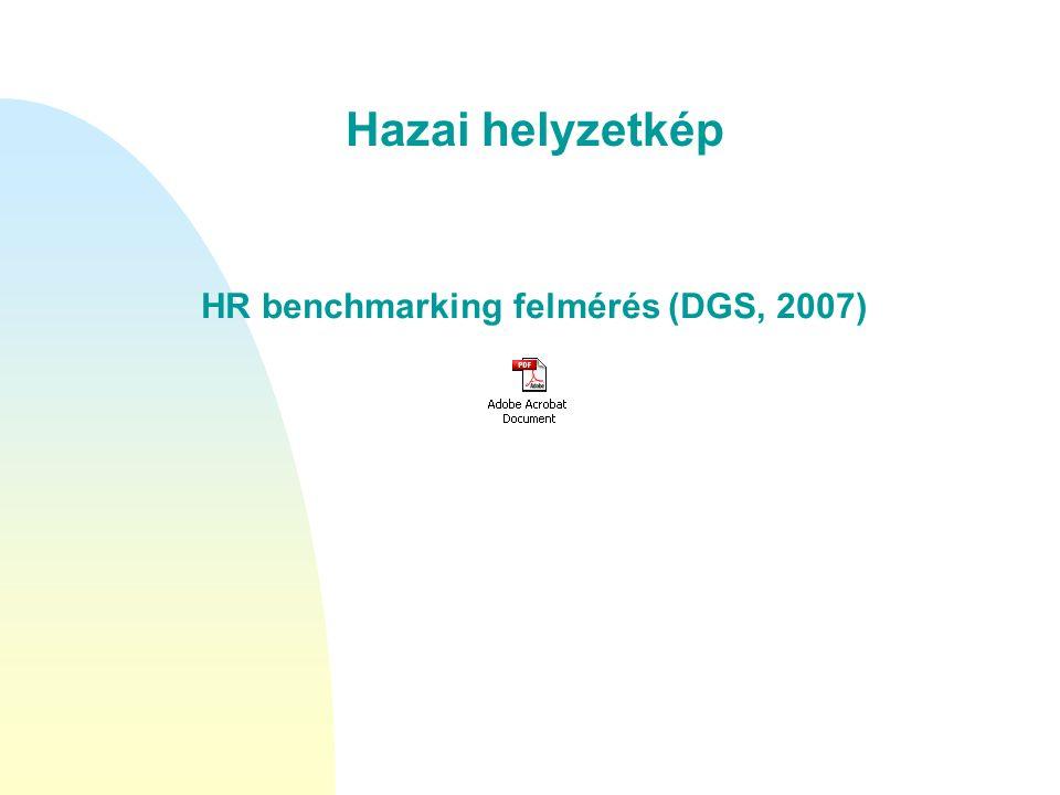 Hazai helyzetkép HR benchmarking felmérés (DGS, 2007)