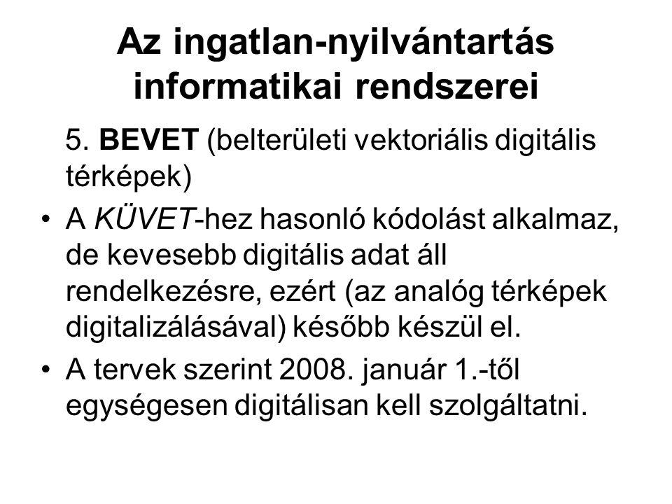 Az ingatlan-nyilvántartás informatikai rendszerei 5.