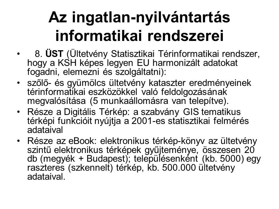 Az ingatlan-nyilvántartás informatikai rendszerei 8.