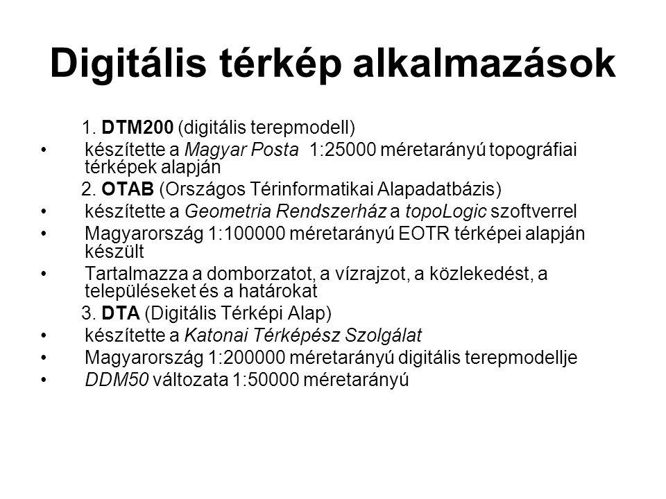 Digitális térkép alkalmazások 1.