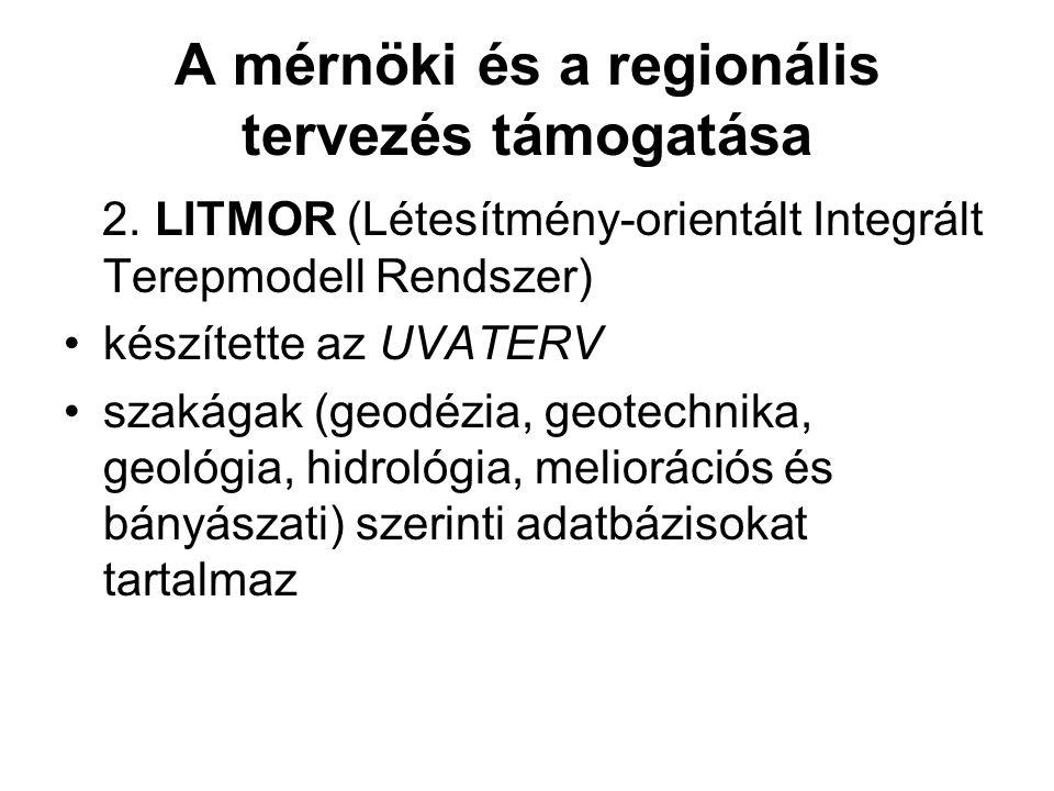 A mérnöki és a regionális tervezés támogatása 2.