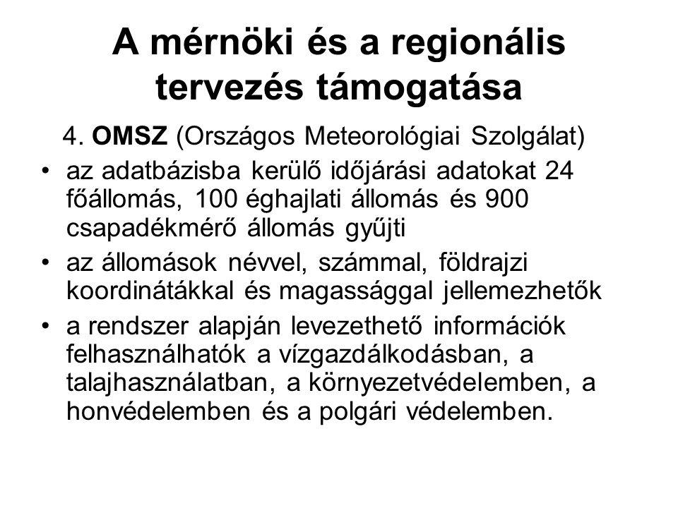 A mérnöki és a regionális tervezés támogatása 4.