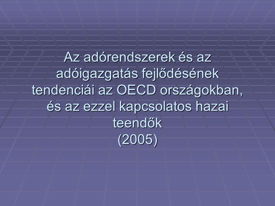 Vázlat  I.Adatok a fejlődés tendenciáiról  II. Adóreformok  III.