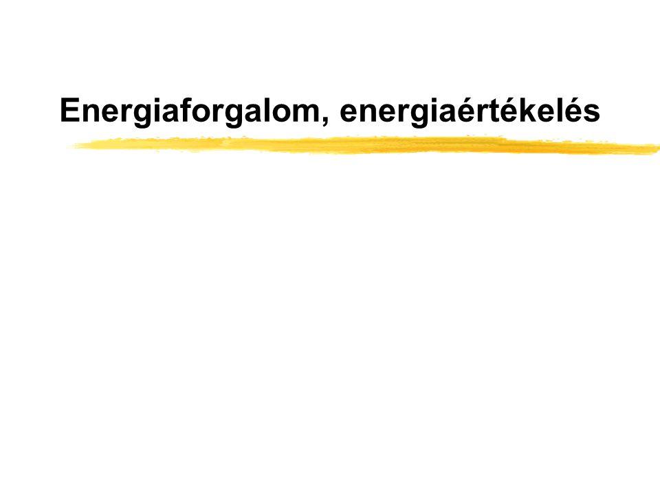 A takarmányok energiájának átalakulása a vad szervezetében Takarmányok BRUTTÓ ENERGIÁJA (BE, GE) (égéshő) bélsár energia EMÉSZTHETŐ ENERGIA (DE) vizelet energia metán energiaMETABOLIZÁLHATÓ ENERGIA (ME) NETTÓ ENERGIA (NE) termikus energia életfenntartó energia termelésre fordítható energia A vad összes hőtermelése