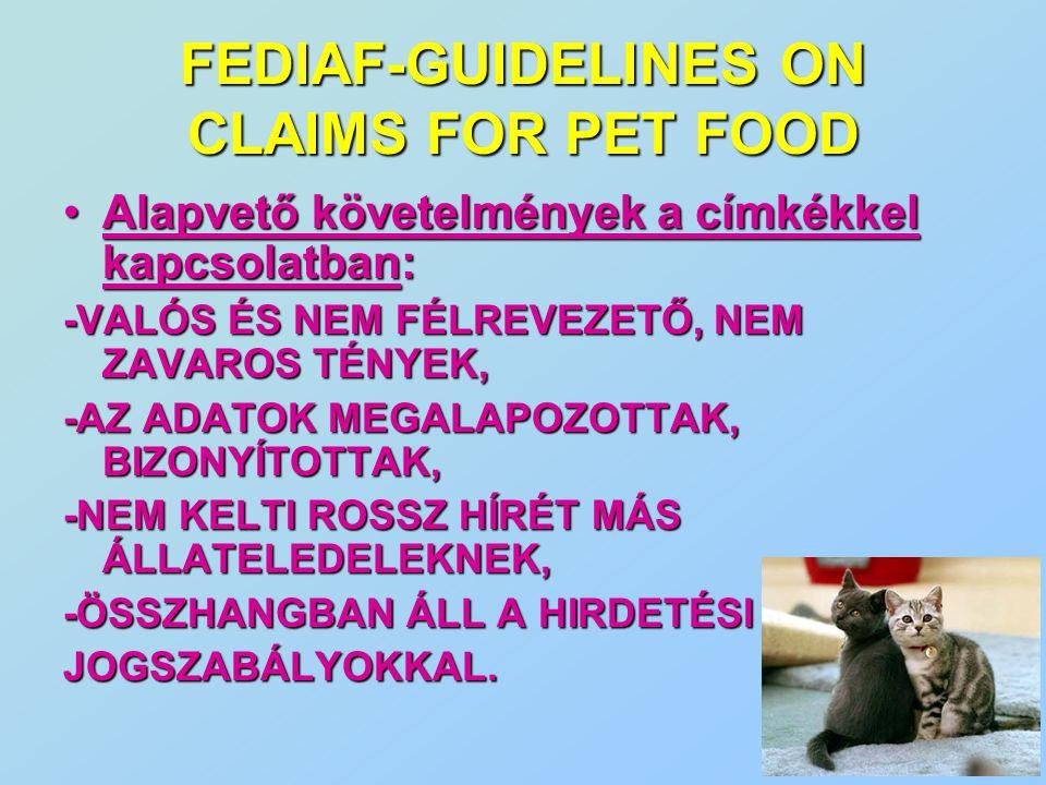 Alapvető követelmények a címkékkel kapcsolatban:Alapvető követelmények a címkékkel kapcsolatban: -VALÓS ÉS NEM FÉLREVEZETŐ, NEM ZAVAROS TÉNYEK, -AZ AD