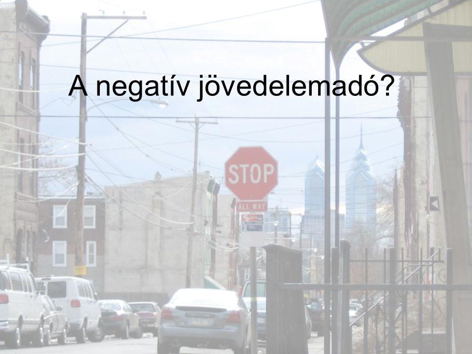 A negatív jövedelemadó?