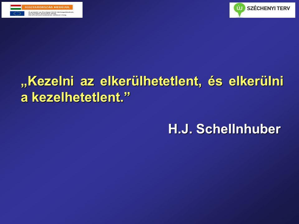 """""""Kezelni az elkerülhetetlent, és elkerülni a kezelhetetlent. H.J. Schellnhuber H.J. Schellnhuber"""