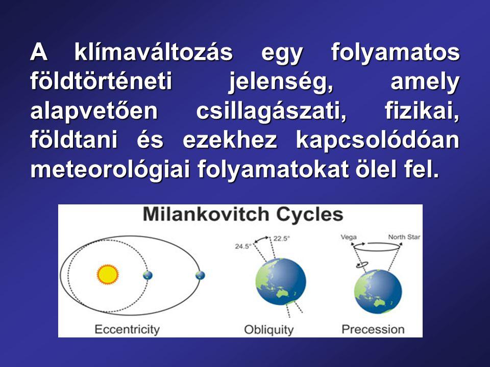 A klímaváltozás egy folyamatos földtörténeti jelenség, amely alapvetően csillagászati, fizikai, földtani és ezekhez kapcsolódóan meteorológiai folyamatokat ölel fel.