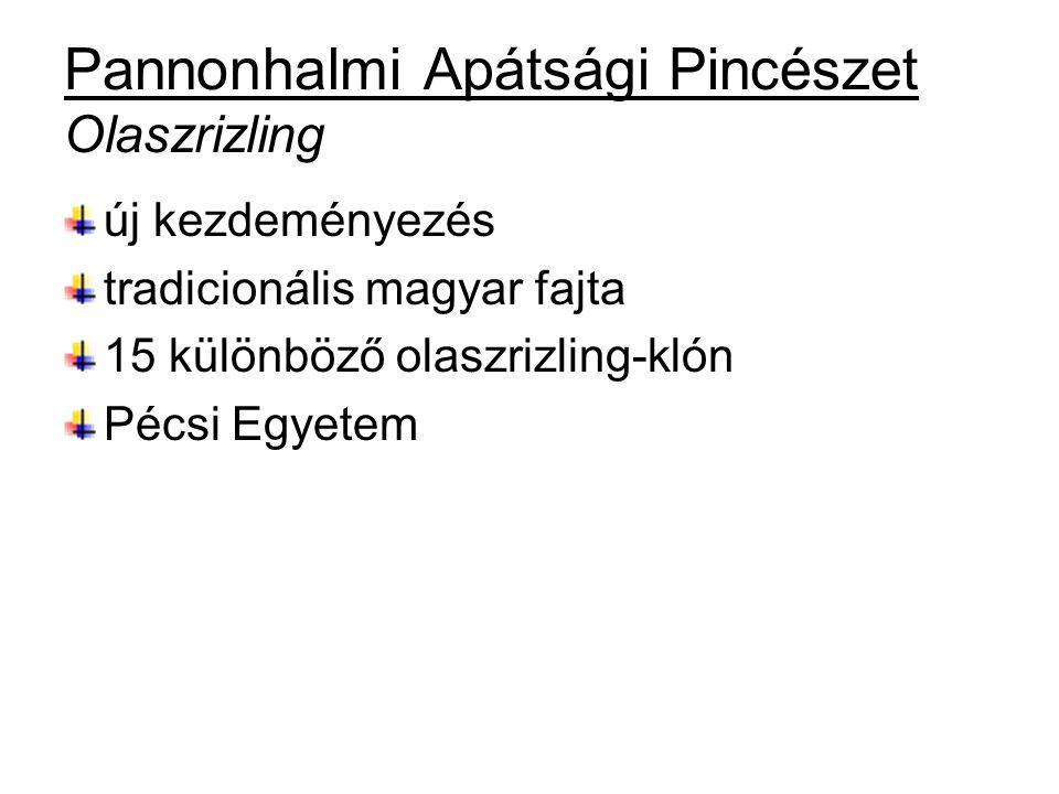 Pannonhalmi Apátsági Pincészet Olaszrizling új kezdeményezés tradicionális magyar fajta 15 különböző olaszrizling-klón Pécsi Egyetem
