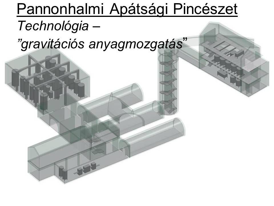 """Pannonhalmi Apátsági Pincészet Technológia – """"gravitációs anyagmozgatás """""""