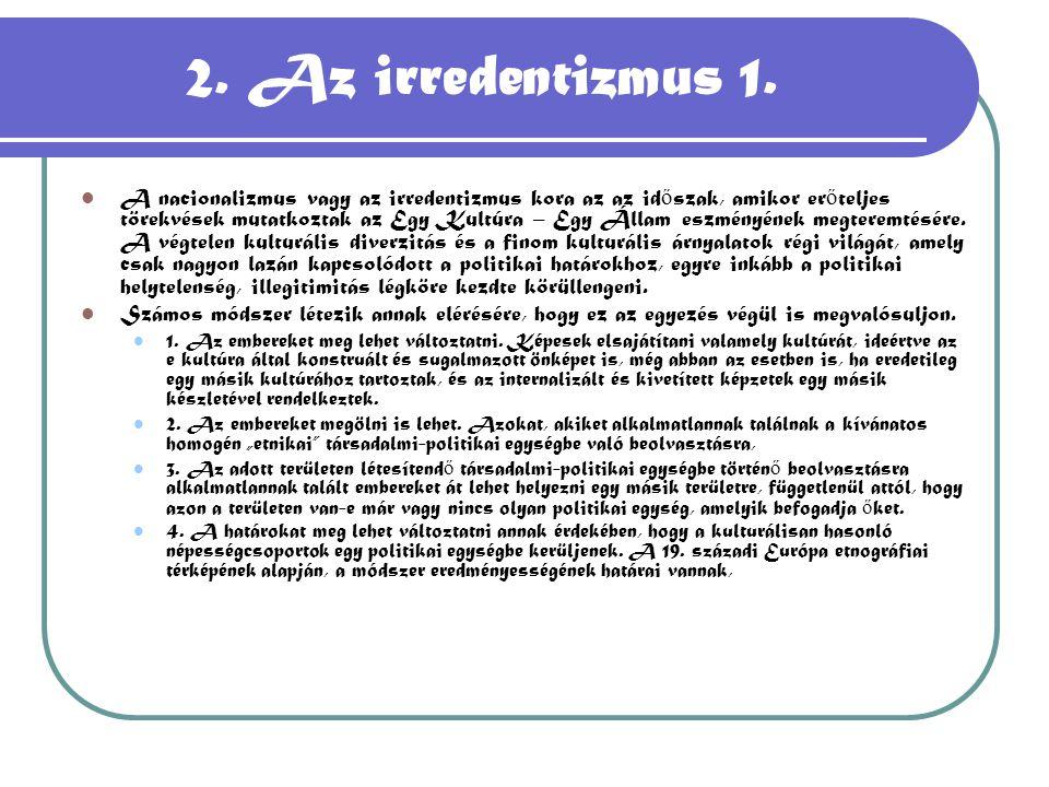 2. Az irredentizmus 1.